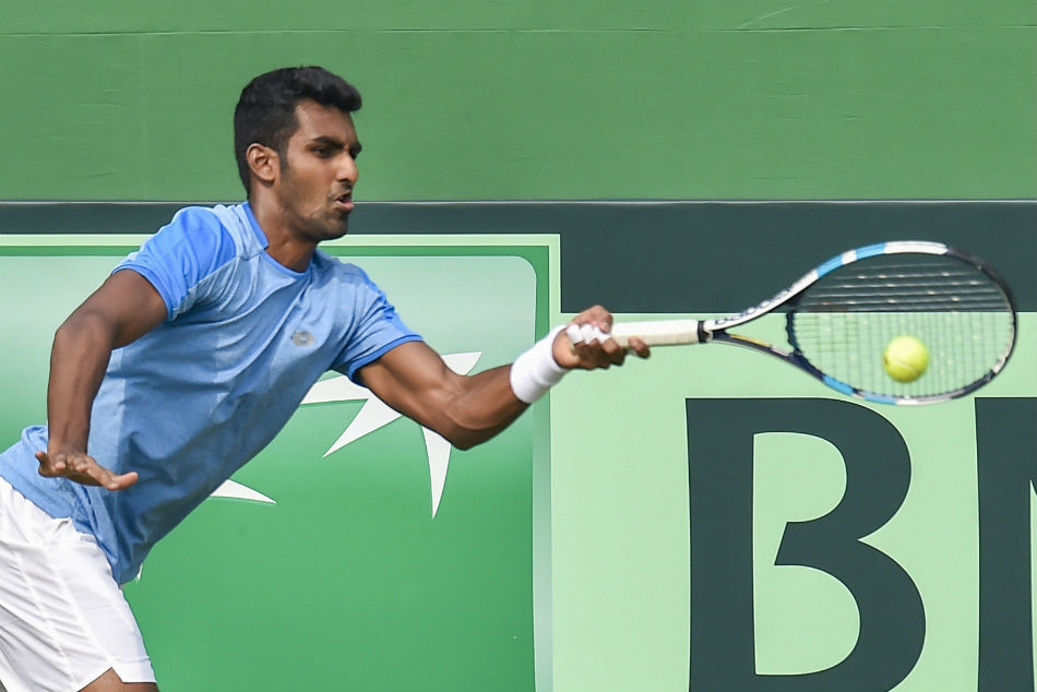 Prajnesh Gunneswaran proved no match for Italys Andreas Seppi