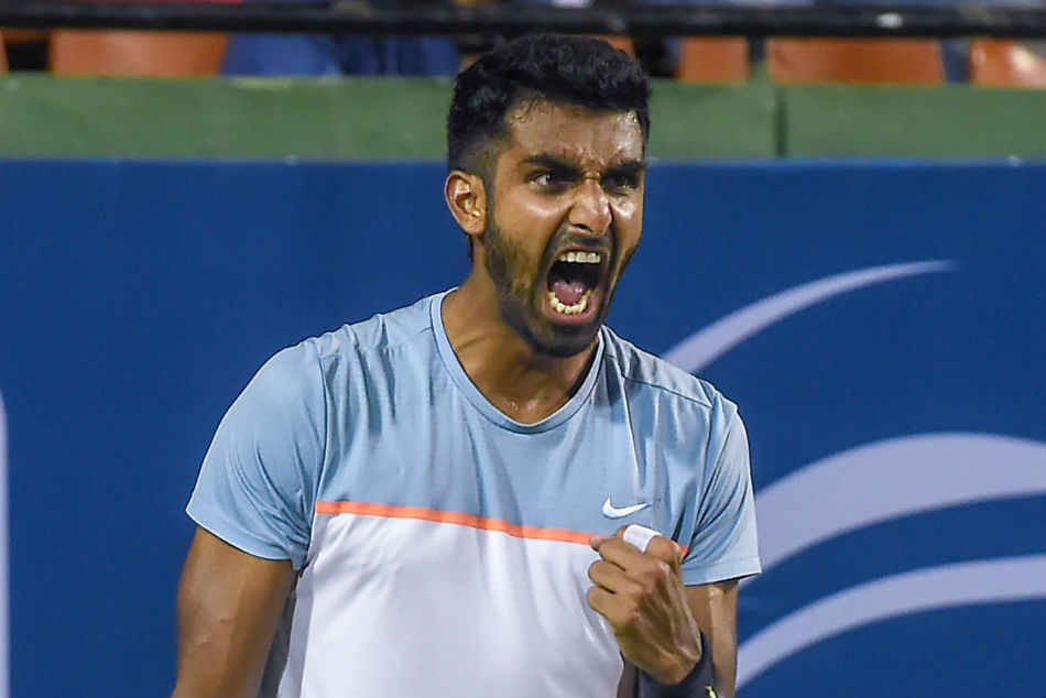 Prajnesh Gunneswaran defeated Arjun Khade 6-4, 6-2 to reach Chennai Open quarter-final
