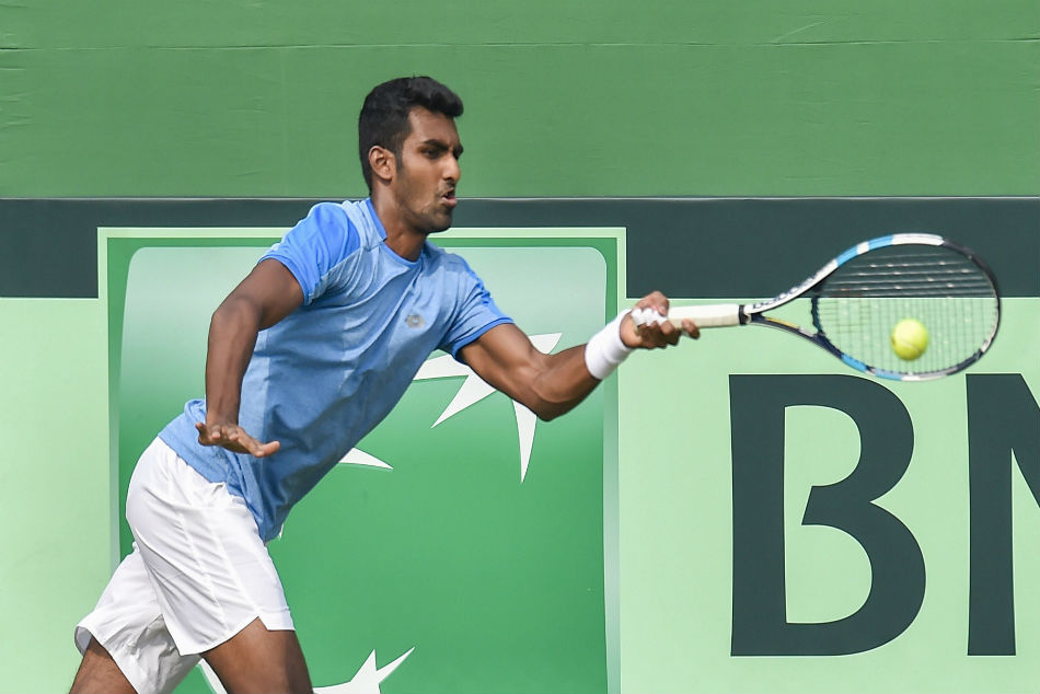 Top seed Prajnesh Gunneswaran beat Daniel Altmaier of Germany 6-4, 6-4