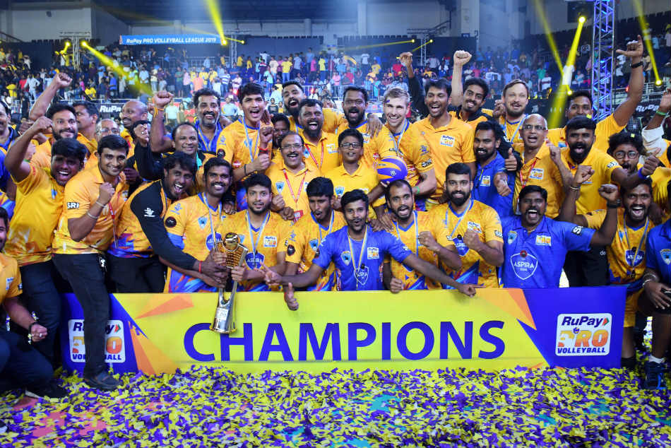 PVL 2019: Chennai Spartans beat Calicut Heroes to be crowned champions of inaugural season