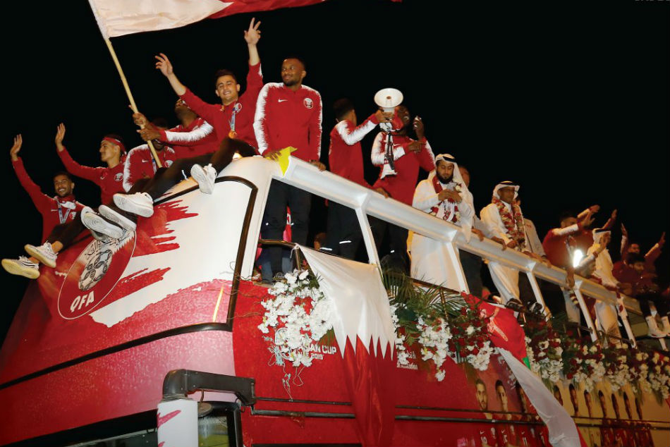 Afc Asian Cup Champions Qatar Return Home A Rapturous Welcom
