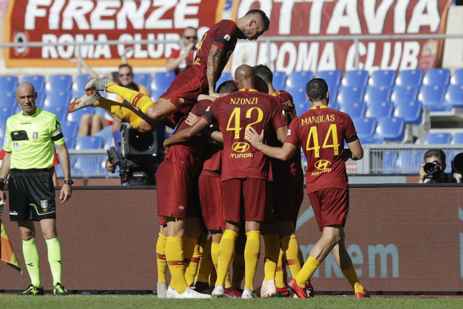 Serie A Kolarov Fazio Score Edge Roma Closer Champions League Berths