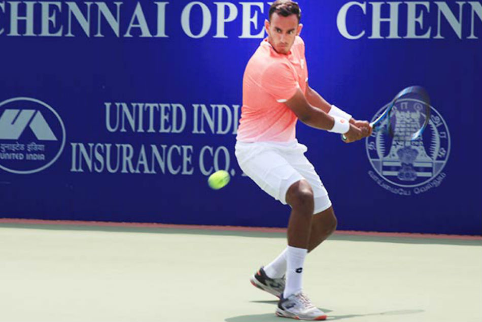 Sasikumar Mukund defeated Sebastian Fanselow 6-3, 6-1