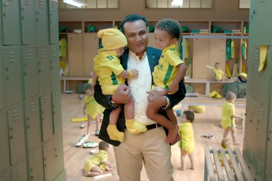 India Vs Australia Never Take Aussies A Joke Matthew Hayden Virender Sehwag Babysitting Ad