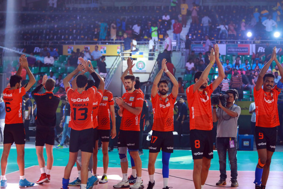Pro Volleyball League U Mumba Volley Beat Chennai Spartans