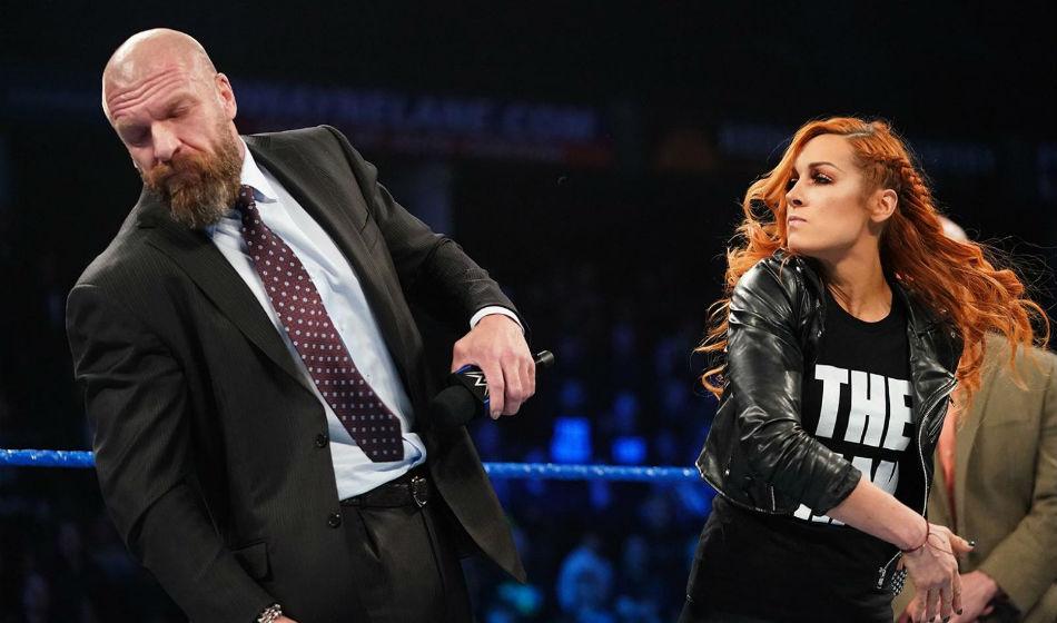 Becky Lynch Appears On Wwe Smackdown Slaps Triple H