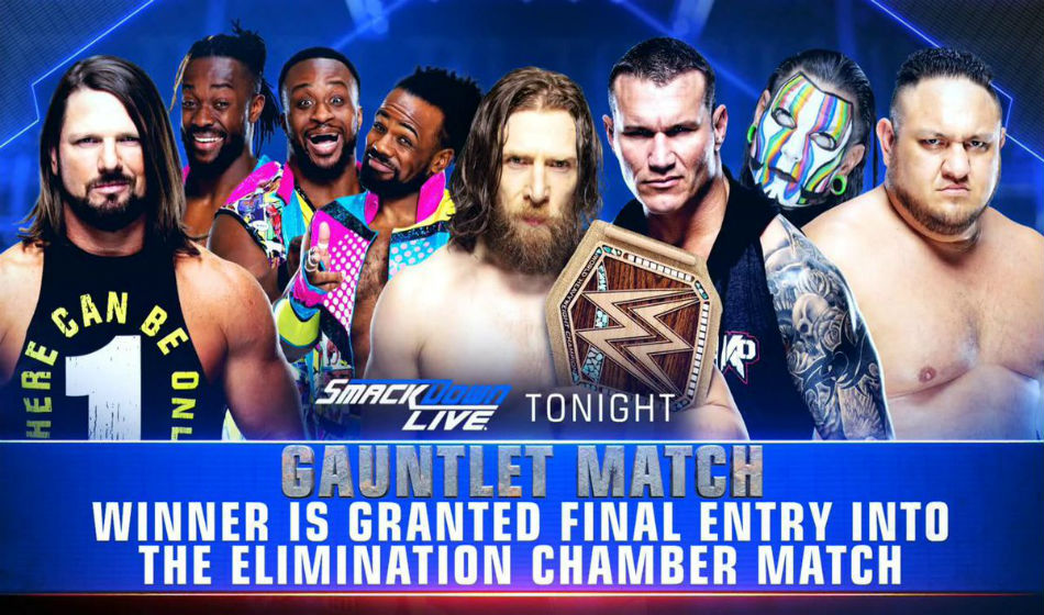 Updated lineup for WWE title match at Elimination Chamber (image courtesy Twitter)