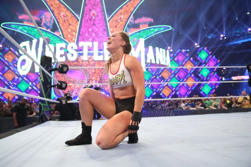 Ronda Rousey set for another Wrestlemania spectacular (image courtesy WWE)