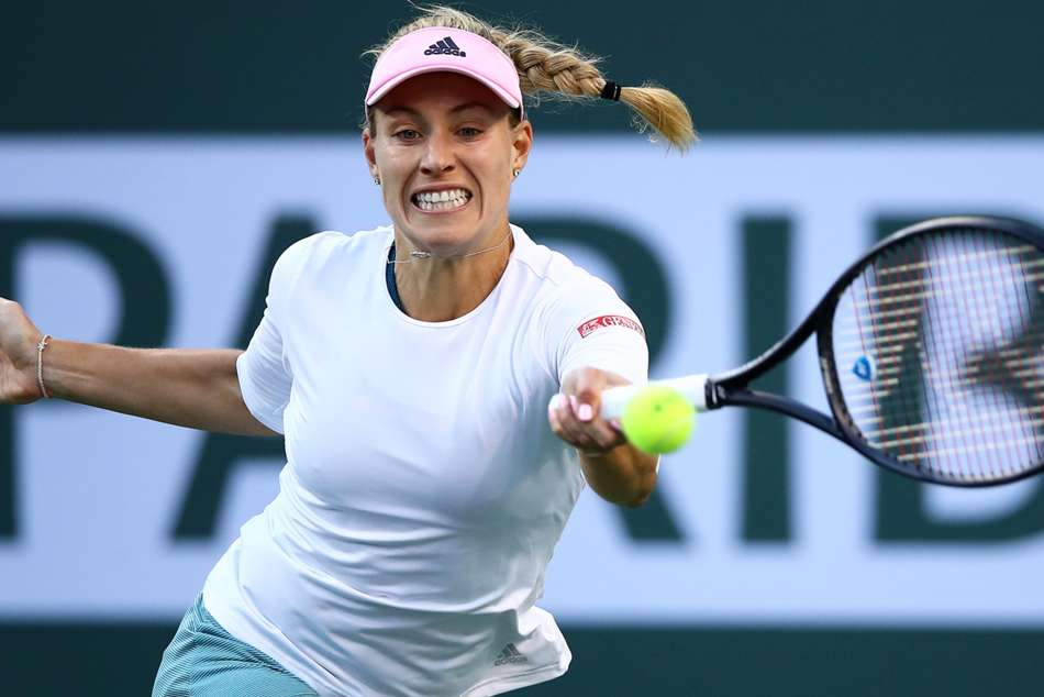 Angelique Kerber in action at the Indian Wells Open