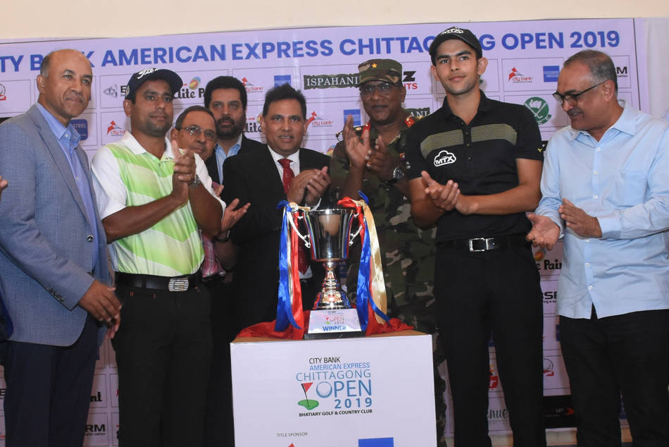The trophy unveiling of the third edition of the Chittagong Open. (Credit: PGTI)