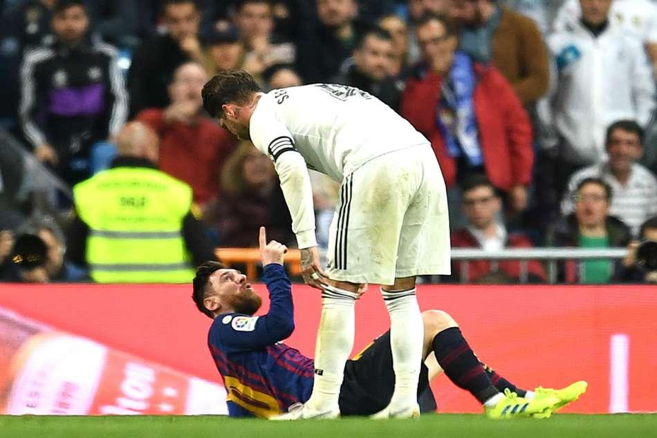 Sergio Ramos Lionel Messi Jose Mourinho Barcelona Real Madrid El Clasico