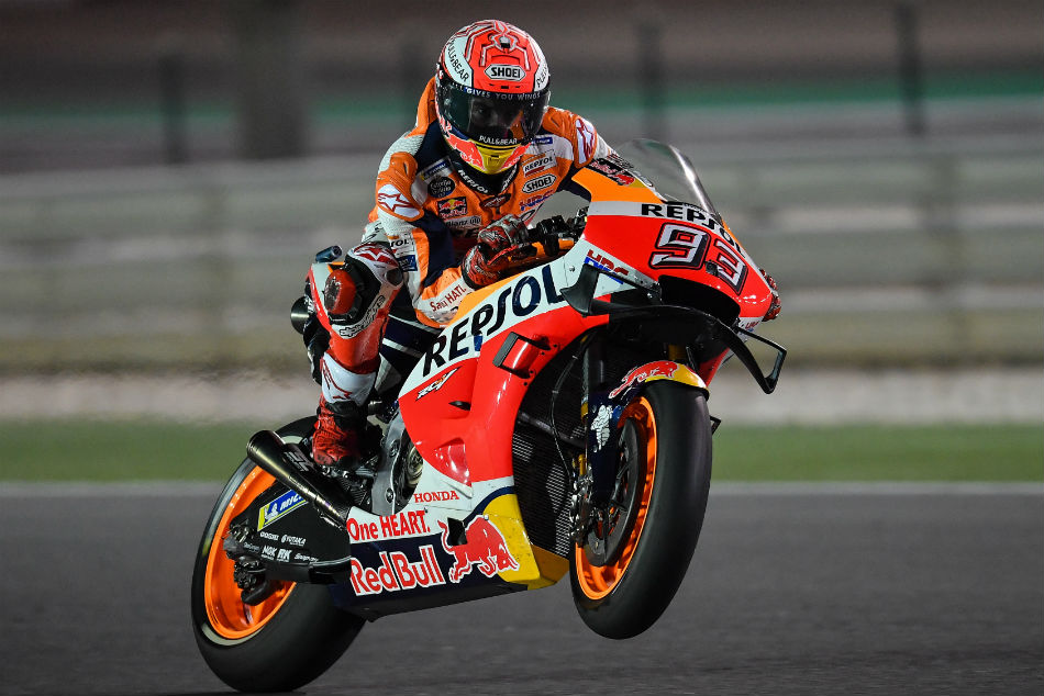 Qatar Motogp Marquez Lays Down Early Marker