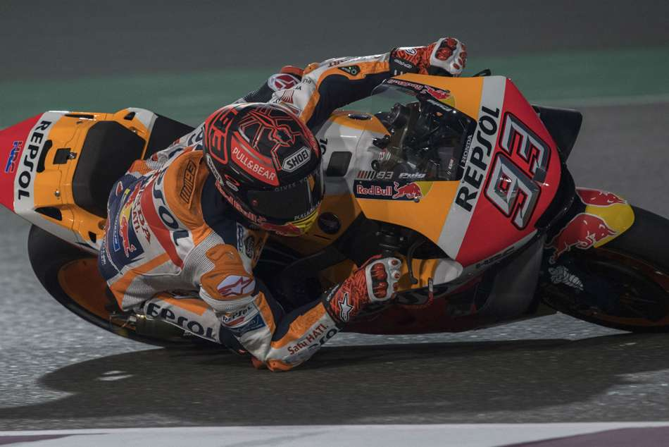 Marc Marquez has only won one of his six previous MotoGP races in Qatar