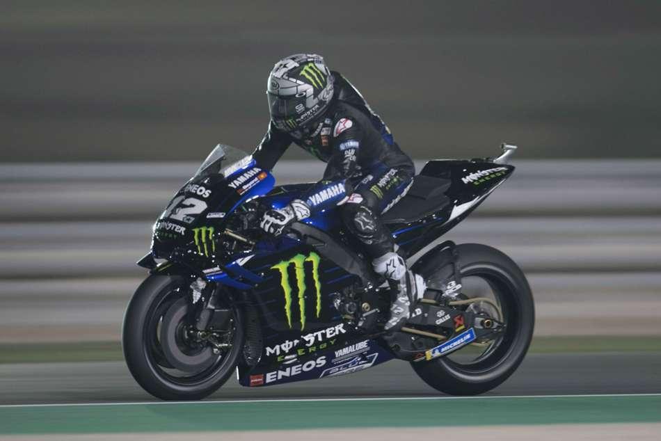 Maverick Vinales Pole Qatar Grand Prix Jorge Lorenzo Crashes