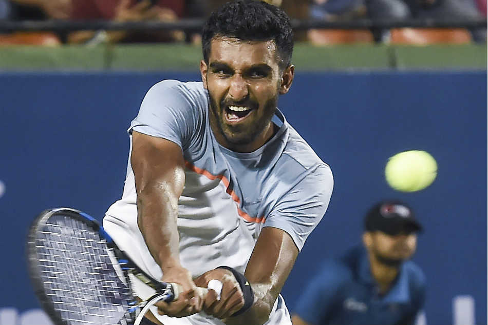Prajnesh Gunneswaran bowed out with a defeat to Ivo Karlovic