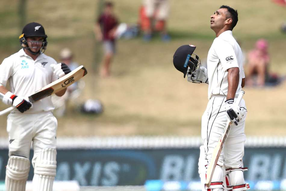 Jeet Raval Tom Latham New Zealand Bangladesh 1st Test Day