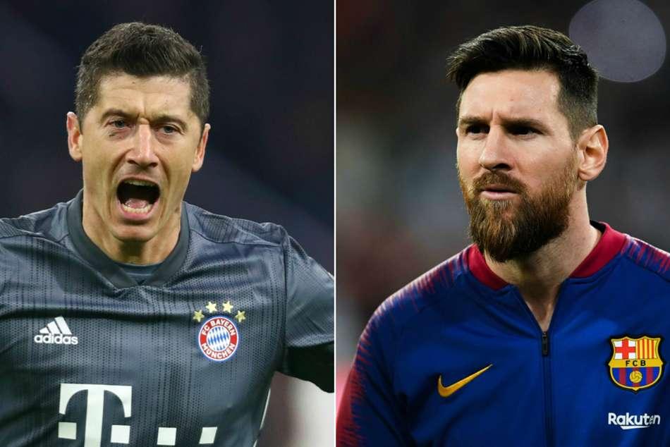 Champions League Last 16 Opta Numbers Robert Lewandowski Lionel Messi Goals
