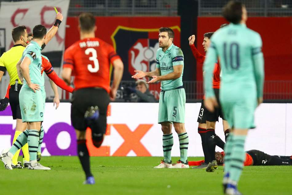 Rennes Arsenal Europa League Match Report Sokratis Papastathopoulos Ismaila Sarr