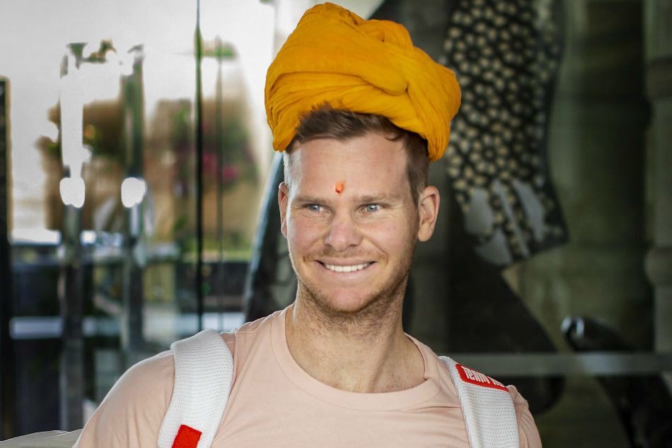 Steve Smith upon his arrival in Jaipur on Sunday