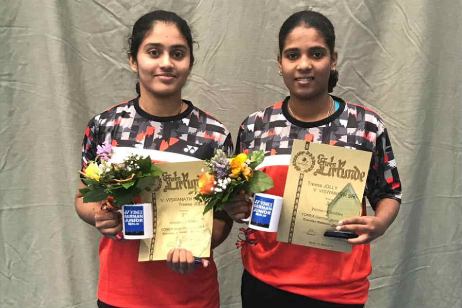 Treesa Varshini Bag Doubles Bronze German Junior 2019