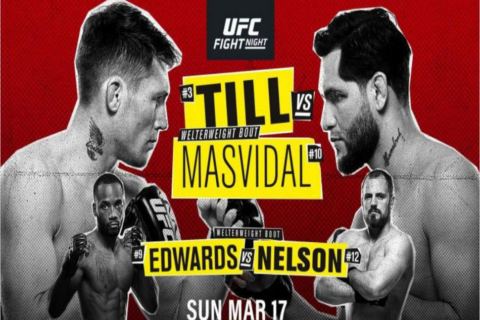 Ufc Fight Night 147 Till Vs Masvidal Fight Card Schedule