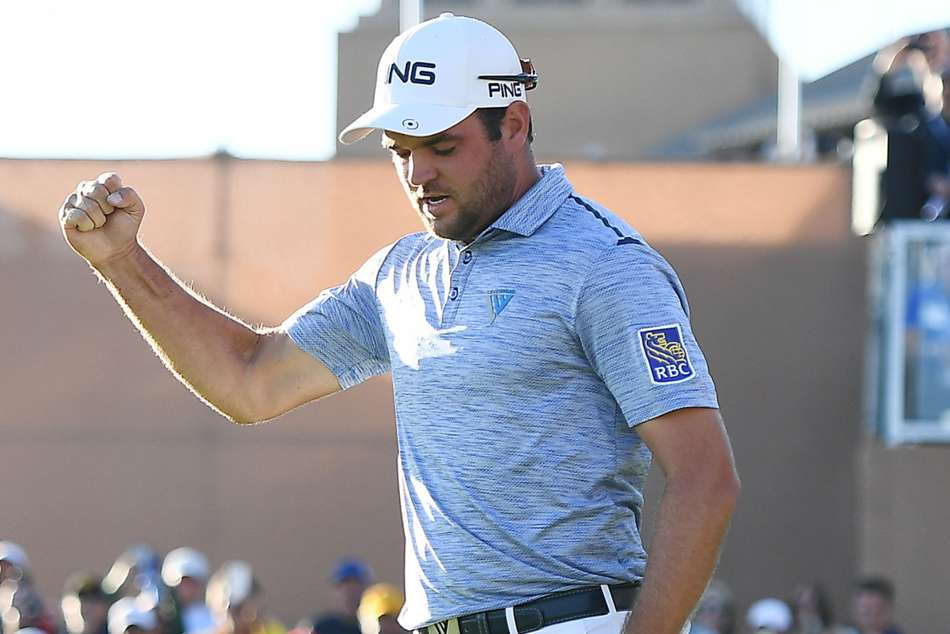 Corey Conners claimed his maiden Tour trophy after his final-round 66 sealed victory ahead of Charley Hoffman