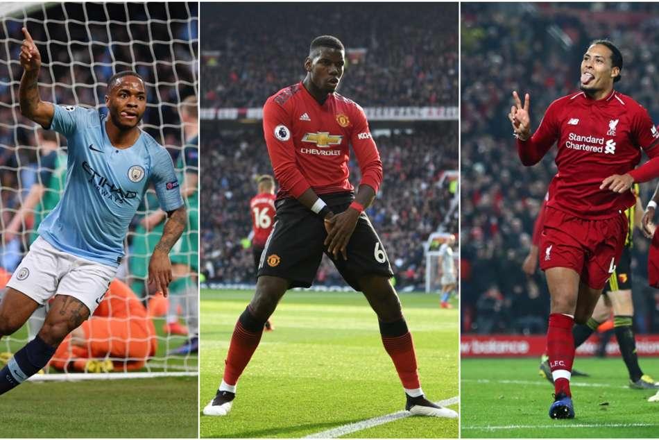 Paul Pogba Pfa Team Of The Year Manchester City Liverpool Premier League
