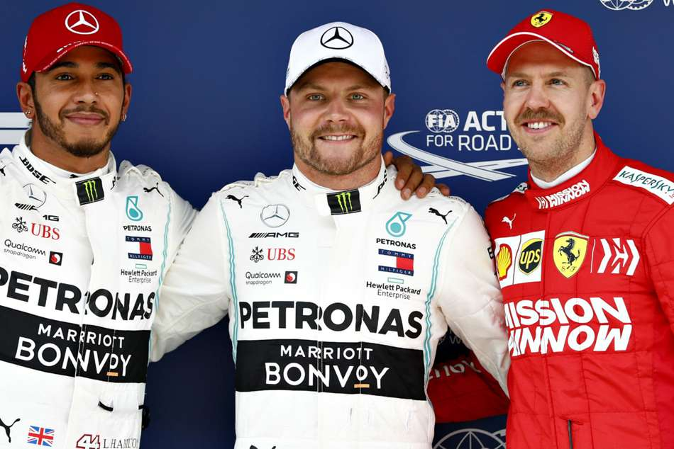 Mercedes secured the top two positions in qualifying for the Chinese Grand Prix, Valtteri Bottas finishing ahead of Lewis Hamilton.