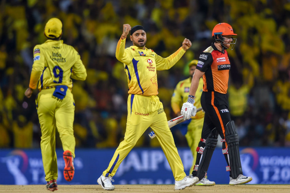 Chennai Super Kings Harbhajan Singh picked up the two crucial wickets
