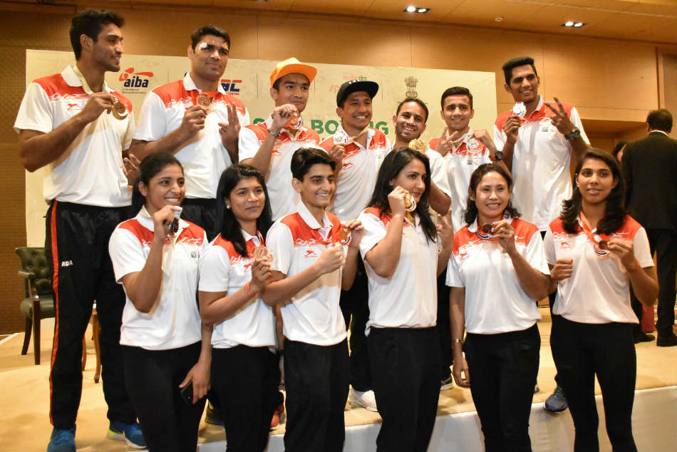 Bfi Recommends Amit Panghal Gaurav Bidhuri For Arjuna As Indian Boxers Felicitated For Best Medal