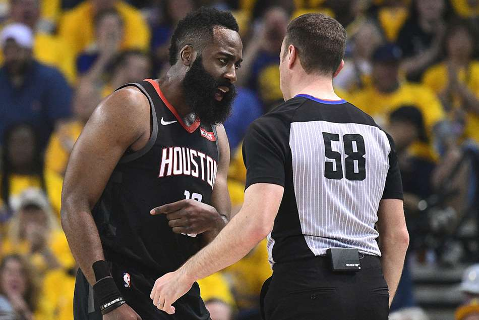 Nba Playoffs 2019 James Harden Complains About No Calls Draymond Green Doesnt Care