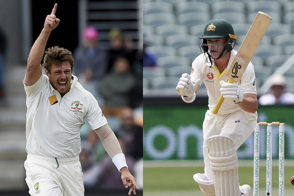 James Pattinson (left) and Marcus Harris get Cricket Australia contracts