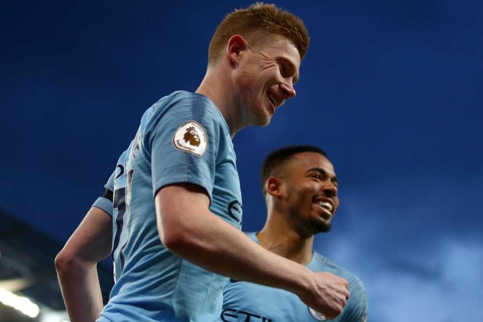 Manchester City 2 Cardiff City 0 Premier League Match Report Kevin De Bruyne Leroy Sane Goals