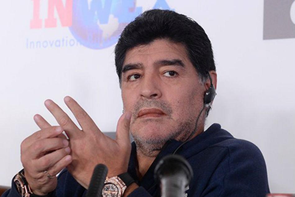 Maradona Fined For Dedicating Win To Venezuela President