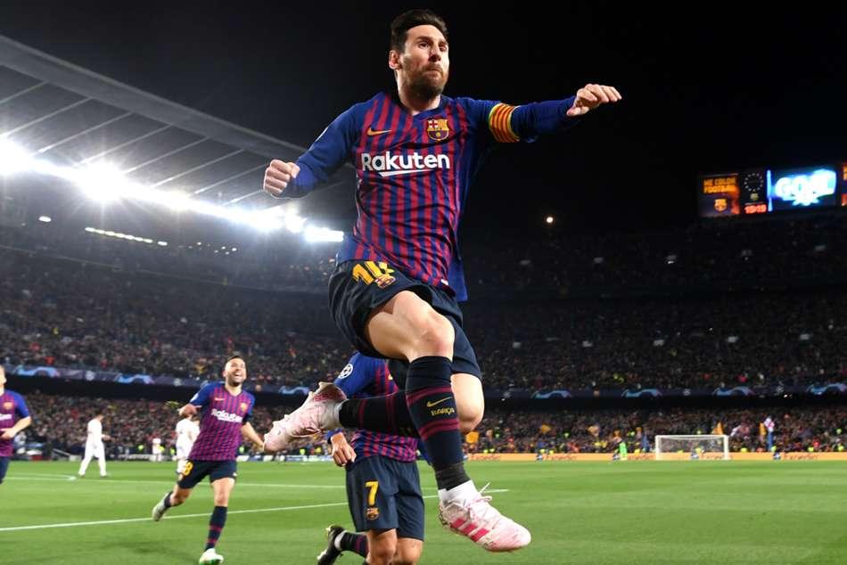 Van Dijk Messi Liverpool Barcelona Champions League