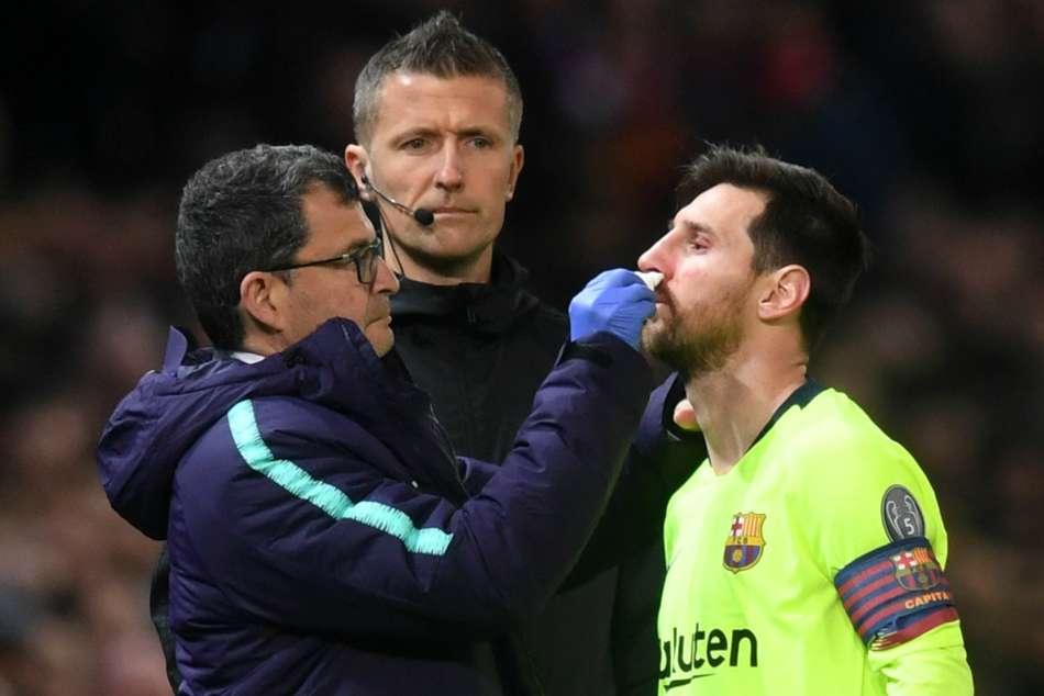 Lionel Messi Valverde Barcelona Injury Examination