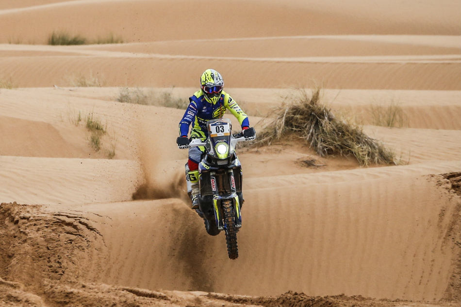 Sherco Tvs Rally Factory Team Begins Merzouga Rally On A Strong Note
