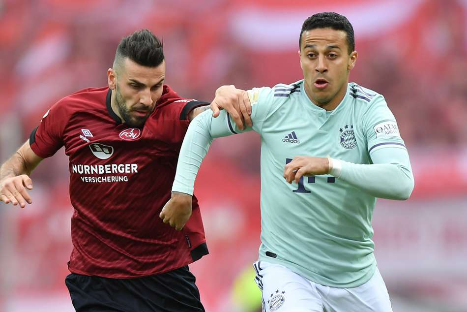 Nurnberg 1 Bayern Munich 1 Champions Spared By Late Penalty