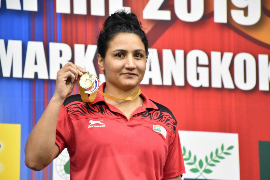 Asian Boxing Championships 2019 Pooja Rani Stuns World Champion Amit Panghal Wins Gold