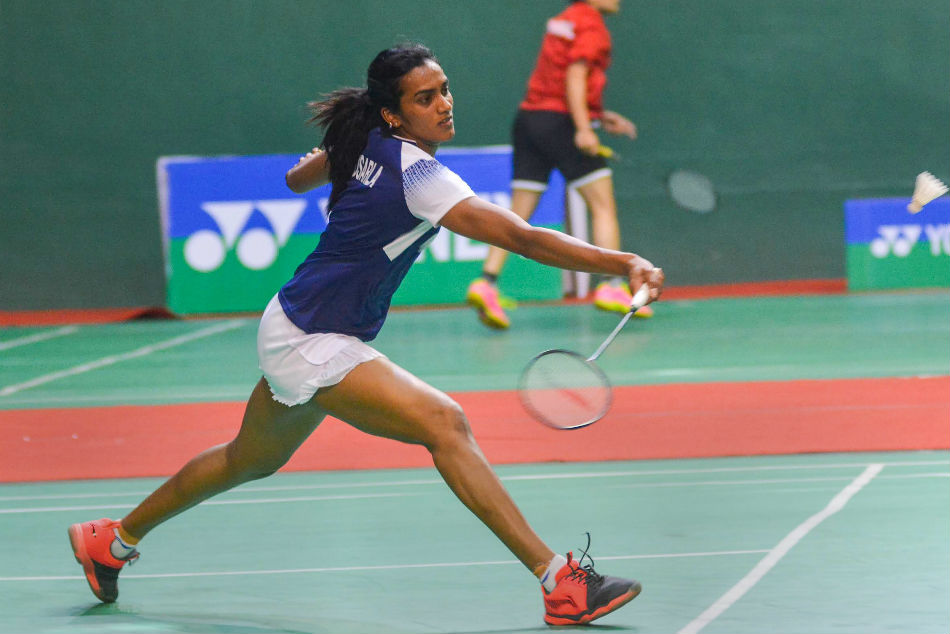Indias P V Sindhu defeated Cai Yanyan of China 21-13 17-21 21-14