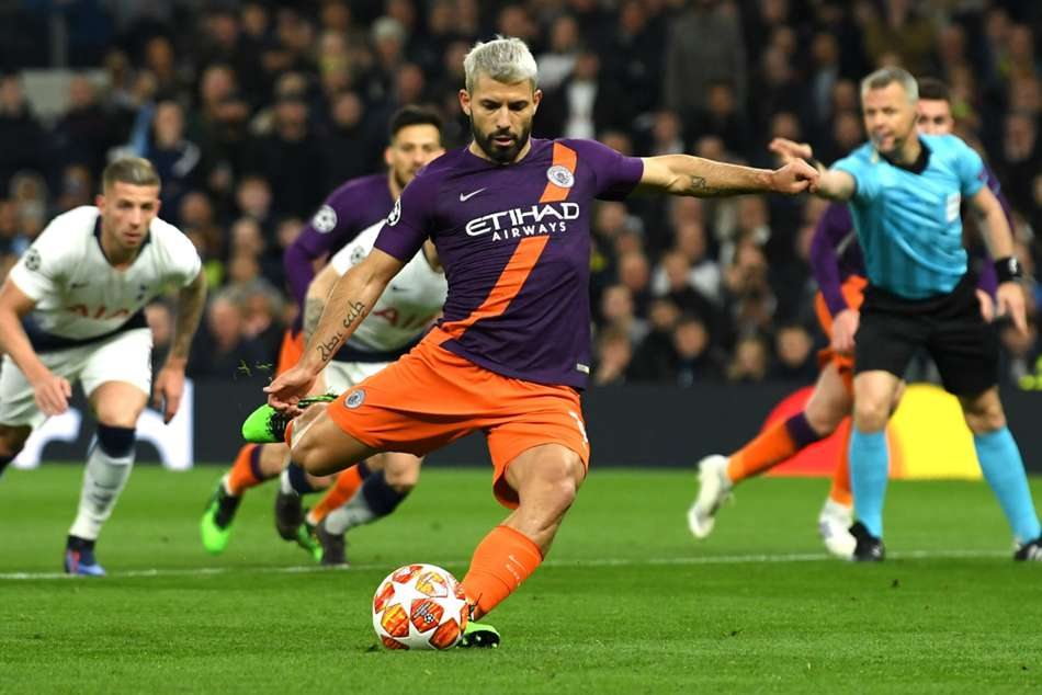 Guardiola Happy For Aguero To Retain Spot Kick Duties Despite Spurs Miss