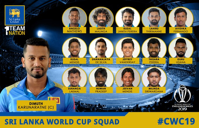 ICC Cricket World Cup 2019, Complete squads of all 10 teams