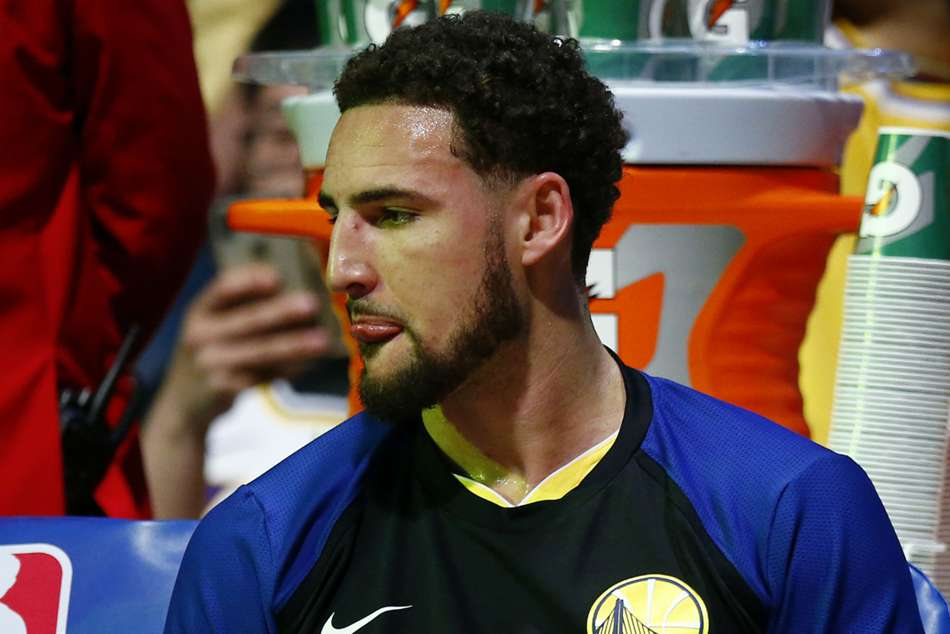 Klay Thompson is suffering from right ankle sprain