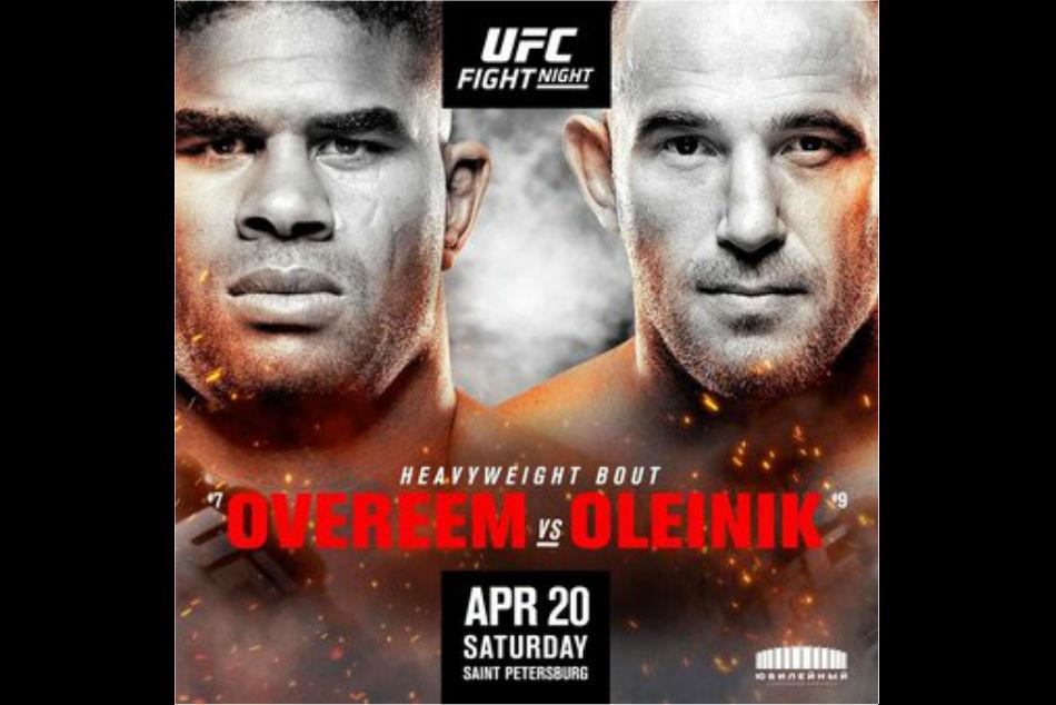 Ufc Fight Night 149 Overeem Vs Oleinik Fight Card And Schedule