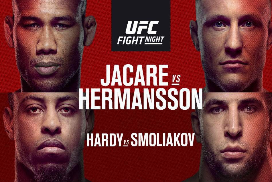 Ufc On Espn 3 Jacare Vs Hermansson Fight Card And Schedule