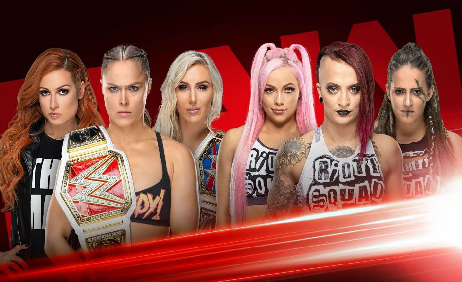 Six-woman tag team match to headline Raw (Images: WWE.com)