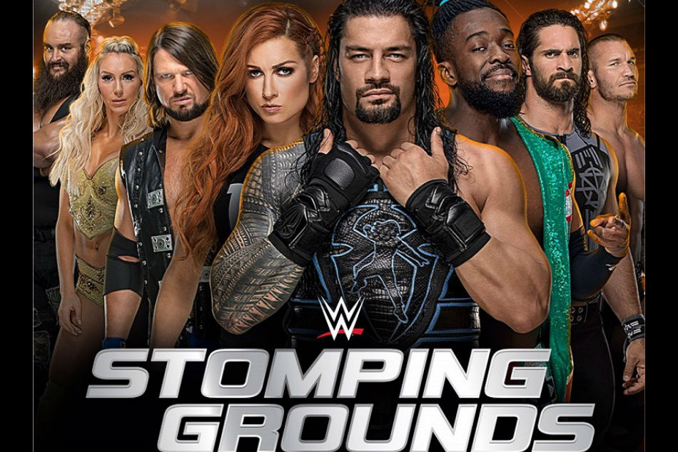 WWE Stomping Grounds poster (image courtesy Twitter)