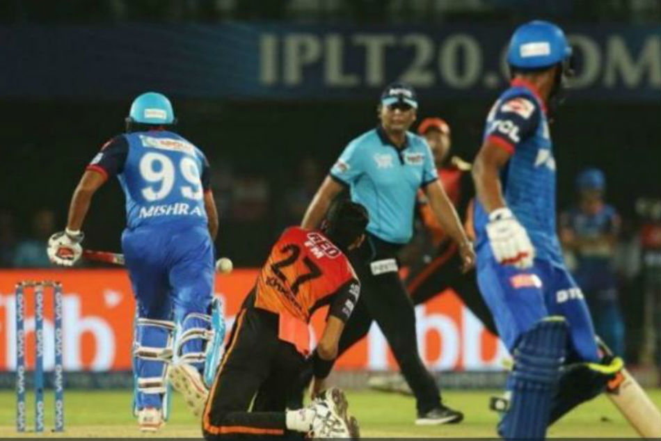 Mishra Dismissal For Obstructing Field Is Only Second In Ipl History