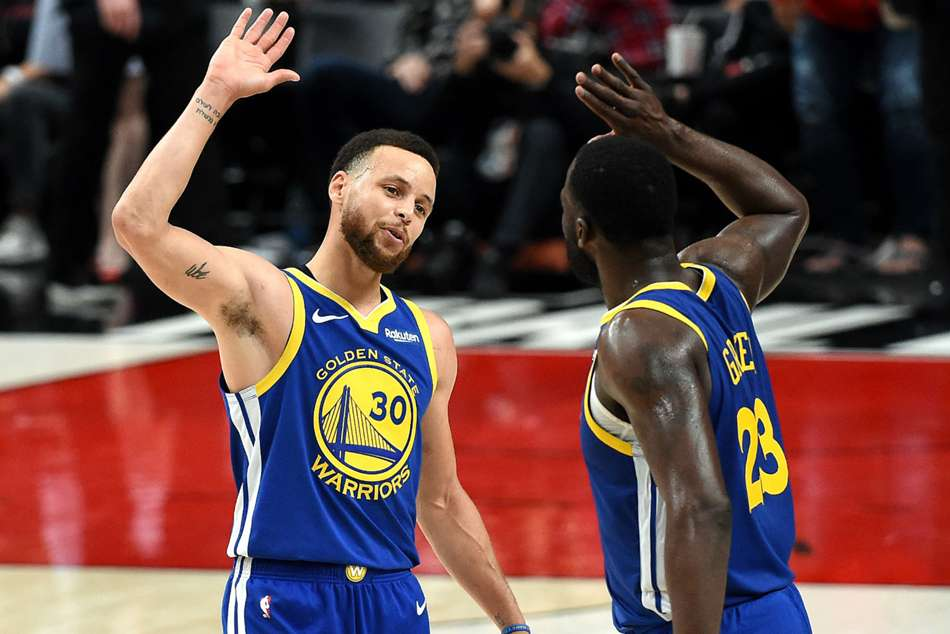 Curry Warriors Team Mate Green Make Nba Playoff History