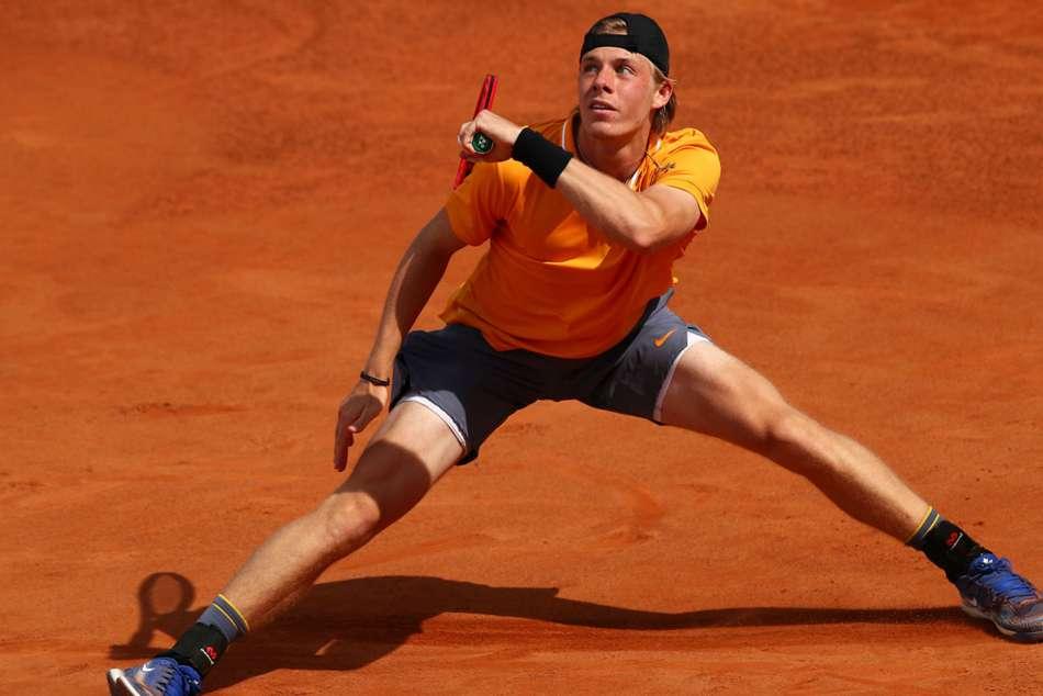 Denis Shapovalov Novak Djokovic Internazionali Ditalia Gael Monfils Out
